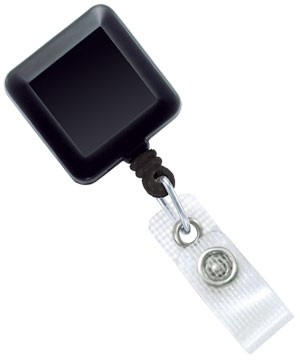 Square Opaque Badge Reel - 100 Pack
