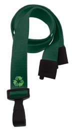 "3/8"" P.E.T Eco-Friendly Lanyards from 100% Recycled Plastic (100 Pack)"
